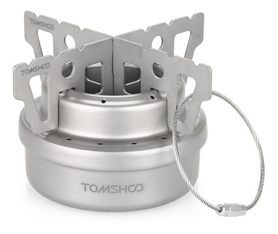 Tomshoo Outdoor Titanium Alcohol Stove & Rack Combo Set