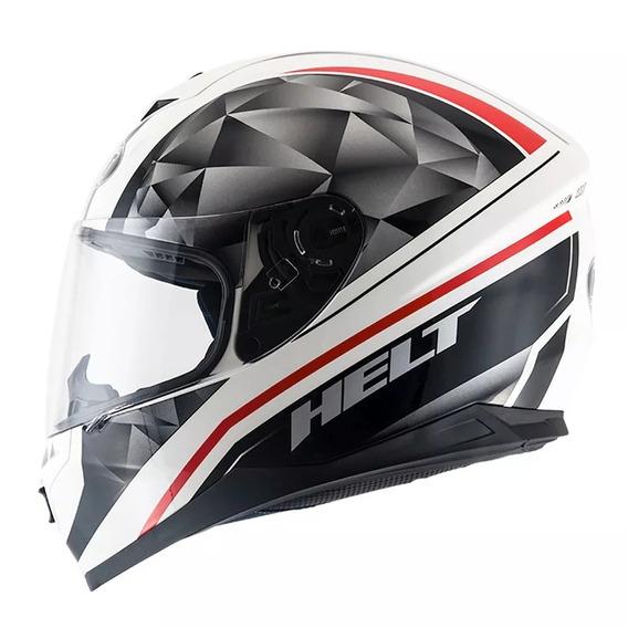 Capacete Helt New Race Carbo Branco Preto