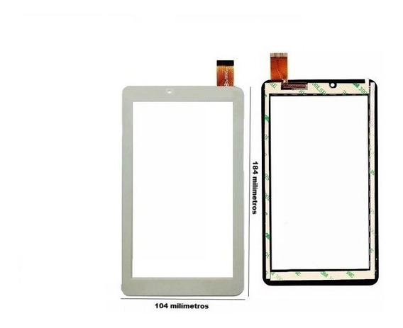 Tela Touch Screen Tablet M7s Plus Ml-ji12 Mj 12 Branco