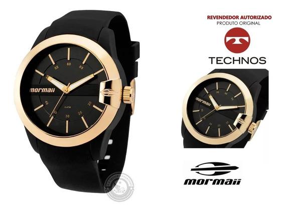 Relógio Feminino Preto E Dourado Mormaii Mopc21jag Original