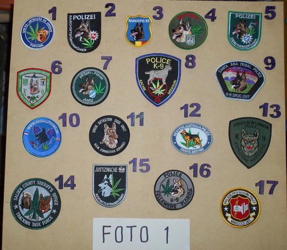 Parches Policias Del Mundo - Division Narcóticos - Mqxr
