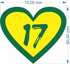 Adesivo Bolsonaro 17 - 7x6cm - 10un