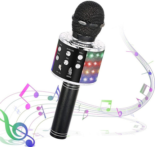 Micrófono Para Karaoke Con Bluetooth      Somos Tienda