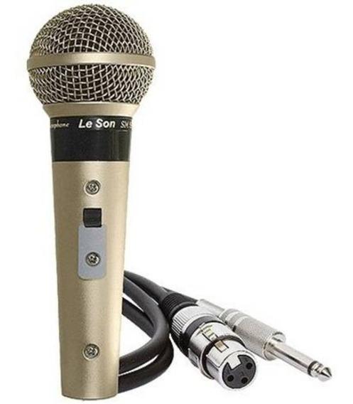 Microfone Profissional Sm-58 P4 Leson