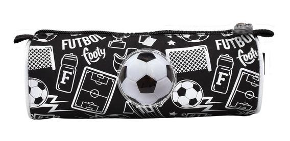 Cartuchera Simple Estampada 1 Cierre Futbol- Footy Oficial