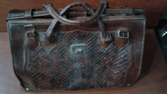 Maletin Portafolio Grande Puro Cuero Vintage