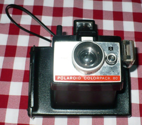 Maquina Fotografica Antiga Polaroid Colorpack 80 Land Câmera