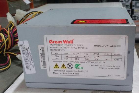 Fonte Chaveada Gw-atx2800 250w Great Wall-testada
