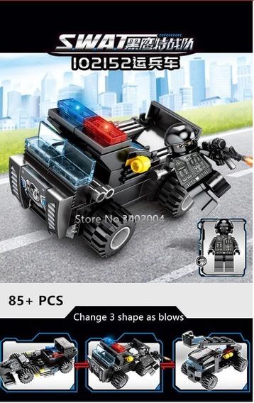 Blocos De Montar Swat Policia Compativel C/ Lego