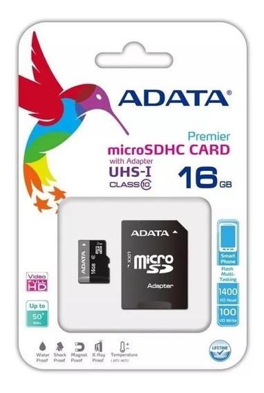 Cartão Memória Micro Sd A-data 16gb + 1 Adpt. Freter$ 15,00