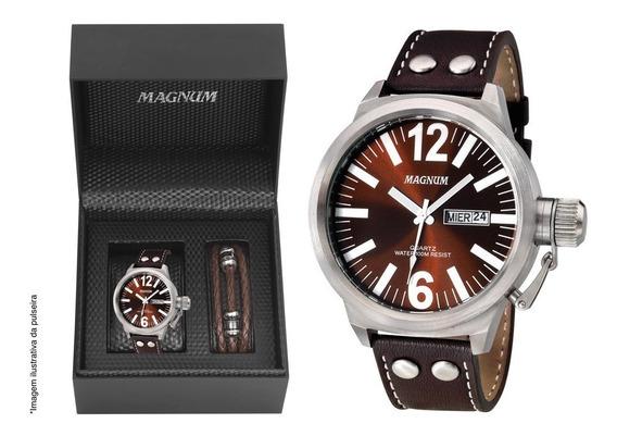 Relógio Magnum Masculino Military Ma31524z Original + Brinde