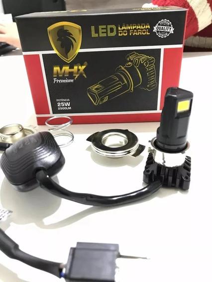 Lampada Farol Led Moto Bi-xenon H4 Baixo+alto 2500l Biz/125