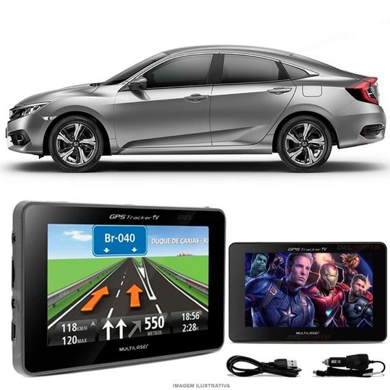 Navegador Gps Automotivo Civic New Tela 4.3 Touch Voz