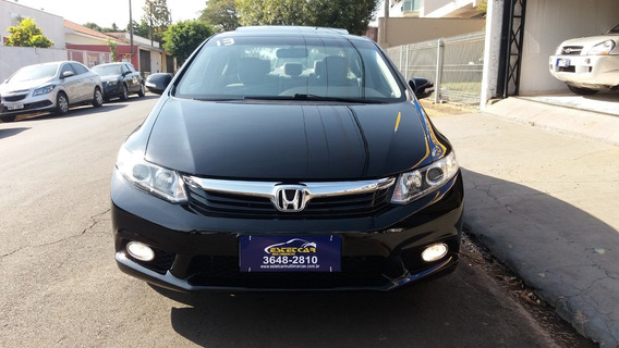 Civic Exs 1.8 Flex 2013 Top De Linha Com Apenas 68.000 Km