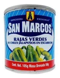Rajas Verdes San Marcos En Escabeche 105 Gr