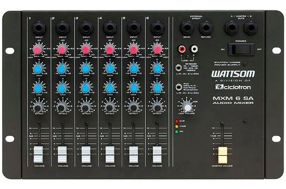 Mesa De Som 6 Canais Wattsom Ciclotron Mxs 6 Sa Mixer Novo