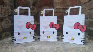 Bolsa Combo X 25 Hello Kitty Candy Bar Regalo Baby Shower Cumpleaños Bautismo Evento Regalo Infantil Golosinera