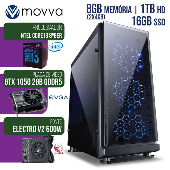 Computador Intel I3 8100 3.6ghz 8gb Hd 1tb Gtx 1050 2gb Ddr5