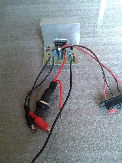 Kit Placa Amplificador Estéreo 80w Tda8560 Montado
