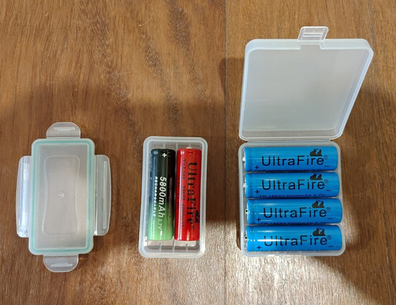 Kit 6 Bateria Recarregáveis 18650 + 2 Estojos