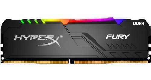 Imagem 1 de 4 de Memória Hyperx Fury Rgb 16gb 3000mhz Black Hx430c16fb4a/16