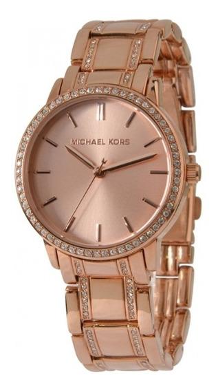 Reloj Michael Kors Para Dama Oro Rosado Original Mk4391