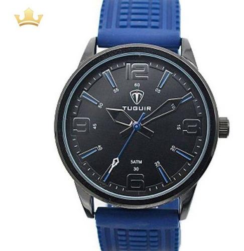 Relógio Masculino Tuguir Analógico 5054 Azul Com Nf