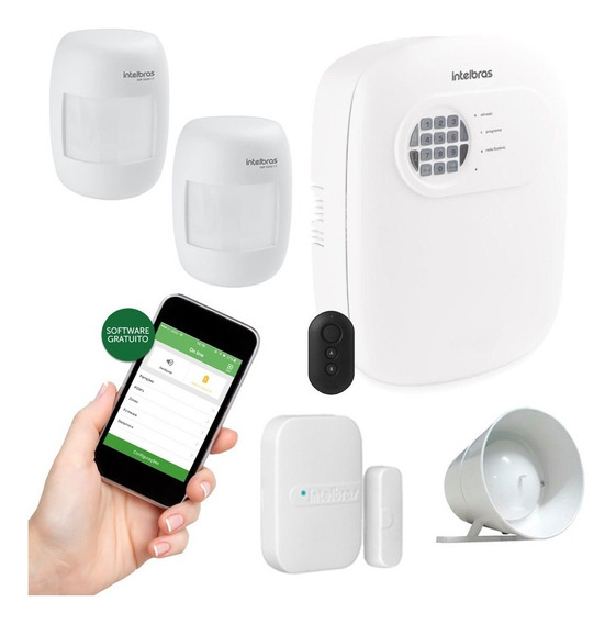 Kit Alarme Intelbras Monitorado Aplicativo Celular 3 Sensor