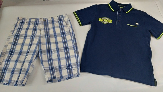 Conjunto Mayoral De Short Y Playera Polo Est.6140 #8 B