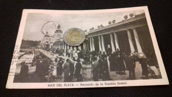 Mar Del Plata Foto Postal Antigua La Rambla Bristol
