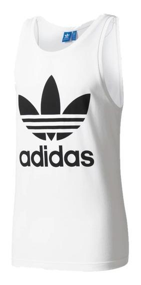 Playera adidas Hombre Blanco Originals Trefoil Tank Bk7098