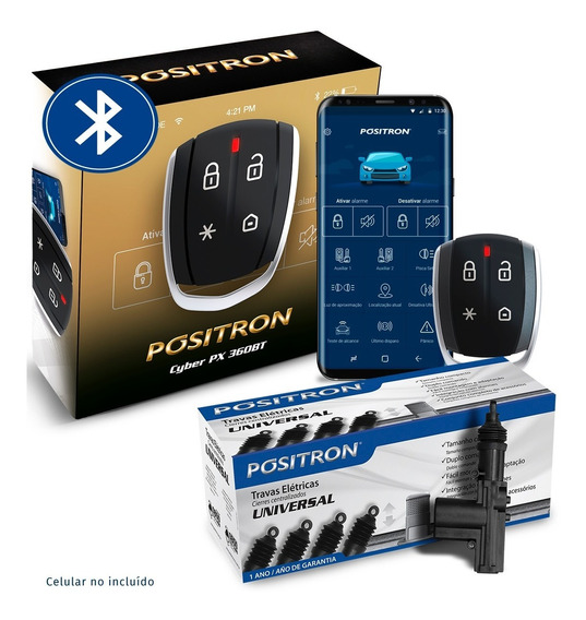 Alarma Auto Positron Px360 + Cierre Centralizado 4 Puertas