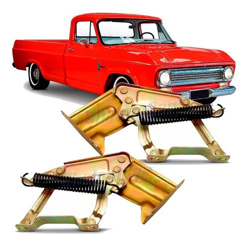 Par Dobradiça Capô C/ Mola Pick-up C10 A10 D10 D60 Caminhões