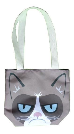 Mini Tote Bag Cartera De Grumpy Cat Gato Cute