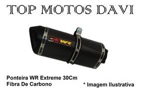 Ponteira Wr Extreme Carbono 30cm Honda Cb 300