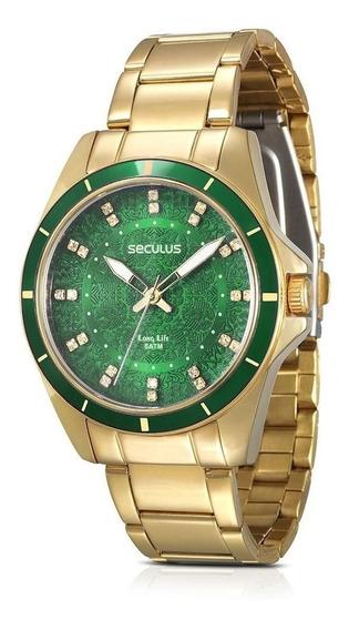 Relógio Seculus Feminino Long Life 28431lpsvda2