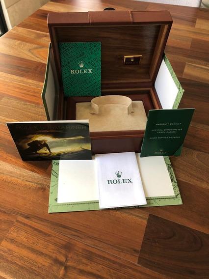 Estuche Grande Rolex Original Con Papeles, Realizado En Piel