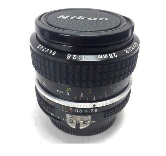 Lente Nikon Nikor 28mm 2.8 Em Perfeito Estado!