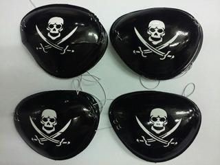Parche De Pirata Plastico - Paquete X 12