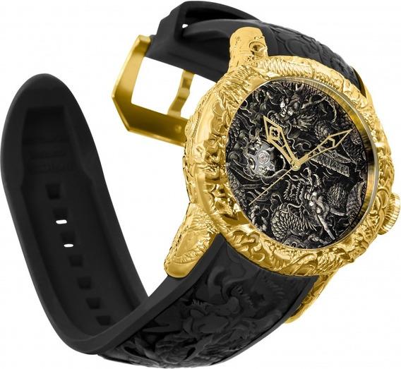 Relógio Invicta Automático 25082 Yakuza Original B Ouro 18k