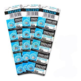 Pack 15 Pilas Maxell Sr626sw 3v 377 P/ Relojes, Calculadora