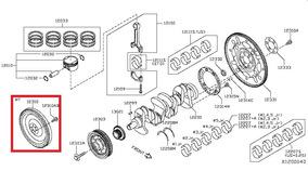 Volante Motor Bi Massa Crem Nissan Livina Cód: 12315-ed010