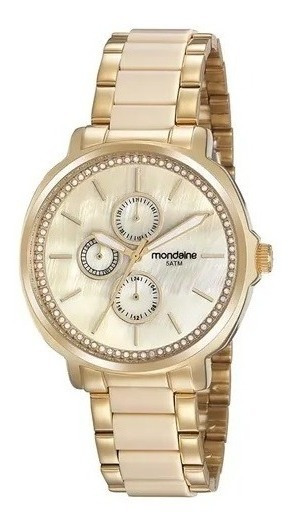 Relógio Feminino Mondaine Multifunção Dourado 99444lpmvdf1