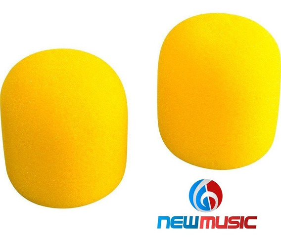 Kit Espuma Csr Para Microfone 4 Unidades Amarela #953