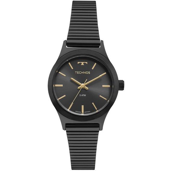 Relógio Technos Preto Feminino Elegance 2035mqj/4c