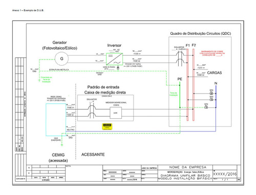 Imagem 1 de 6 de Modelo Projeto - Homologação De Energia Fotovoltaica Atual
