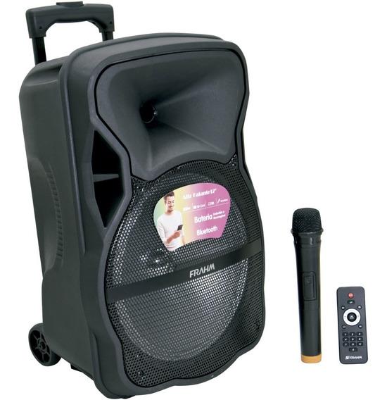 Caixa De Som Amplificada Mp3 600w Sem Fio Microfone Rádio Fm
