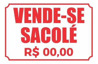 Placa Vende-se Sacolé 30x20cm Promoçao