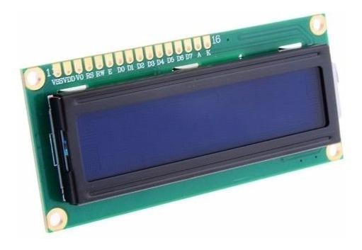 Display Lcd 16x2 1602 Back Azul Pic Atmel Arduino Raspberry