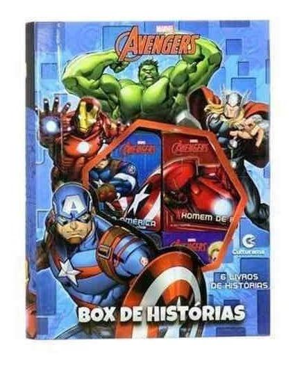 Box De Histórias Avengers Vingadores Com 6 Livros Capa Dura